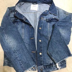 Zara oversized denim jacket XS